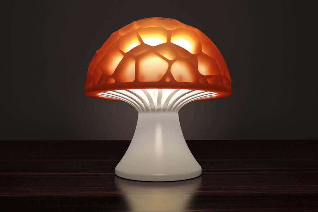 Image Of 3d Printing Ideas 40 Easy Home Decor Things To 3d Print Voronoi Mushroom Lamp Lampen 3d Prints Lasercutter