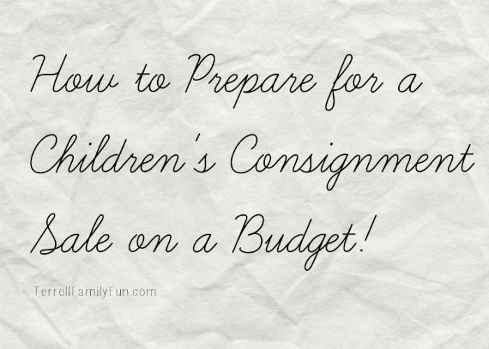 How to Consign on Budget, Children's Consignment Sale Tips