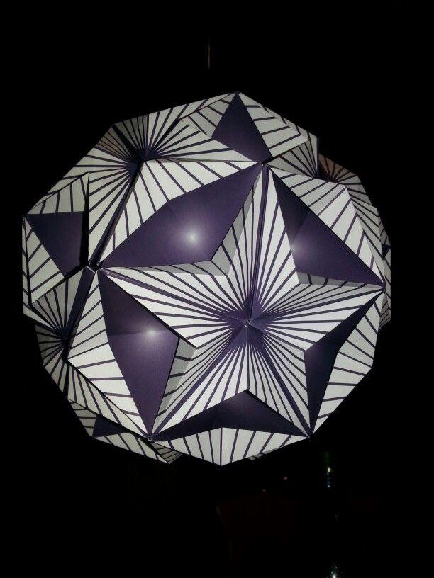Sea star oder adventus kugel origami pinterest papierkugeln basteln und papier - Papierkugeln basteln ...