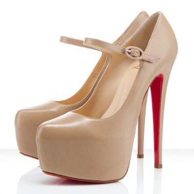 huge discount e4152 8f7cd Christian Louboutin Lady Daffodile Mary Jane Nude ...