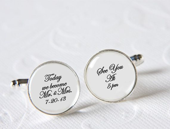 Today We Become Mr. & Mrs. Cufflinks, Groom Cufflinks, Wedding Day ...