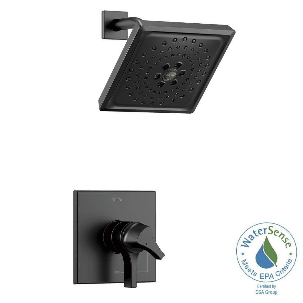 Delta Zura 1 Handle Shower Faucet Trim Kit With H2okinetic Spray