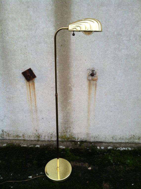vintage alsy brass pharmacy floor lamp clam by