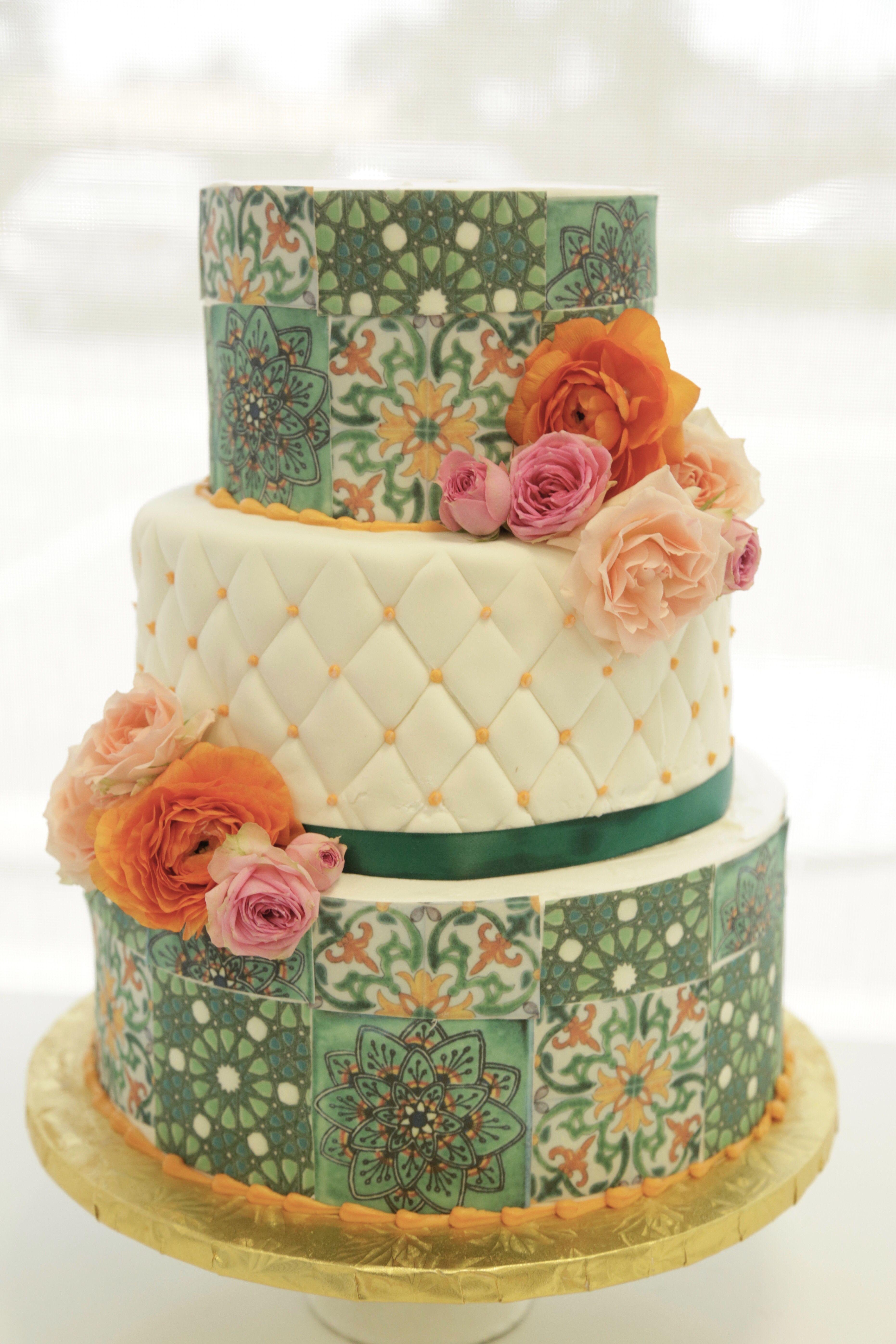 Spanish Tile Wedding Cake Great Dane Baking Company Baking