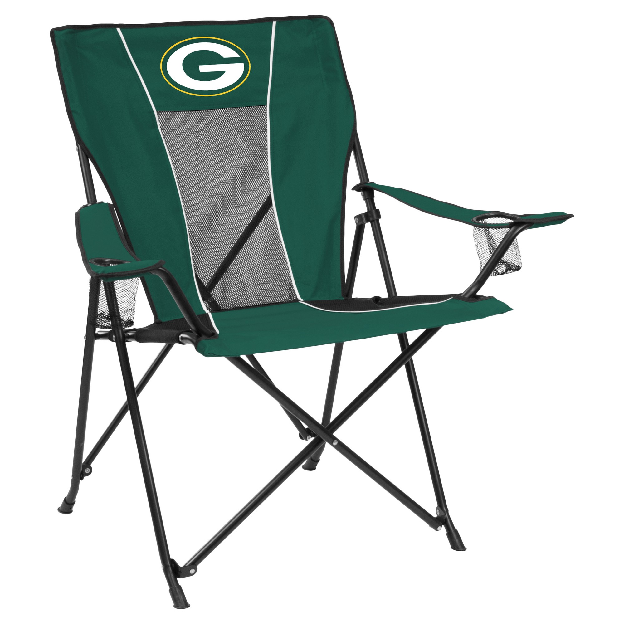 NFL Green Bay Packers Portable Game Time Quad Chair  sc 1 st  Pics for you evety day & Browning Camping 8525014 Strutter Folding Chair OMJ Outdoors
