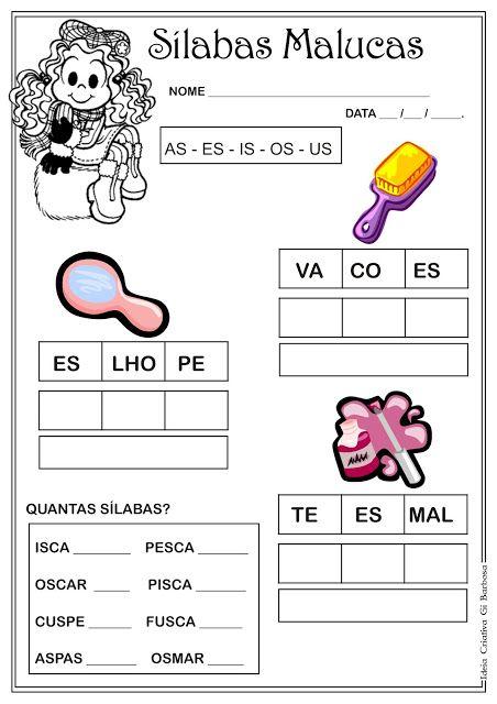 Atividade Silabas Complexas As Es Is Os Us Silabas Complexas