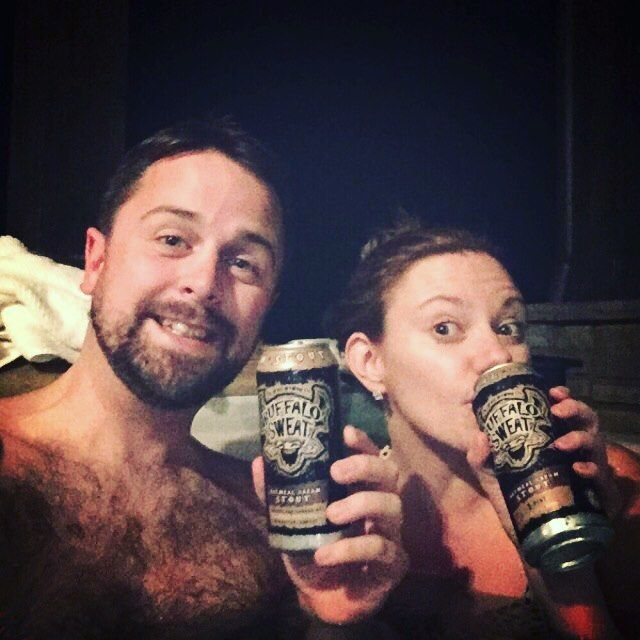 This rich oatmeal stout is exceptionally creamy thanks to the use of cream sugar in the brew process - Buffalo Sweat Oatmeal Cream Stout by Tallgrass Brewing Company @tallgrassbeer  #tallgrassbrewing #buffalosweat #hottub #craftbeer