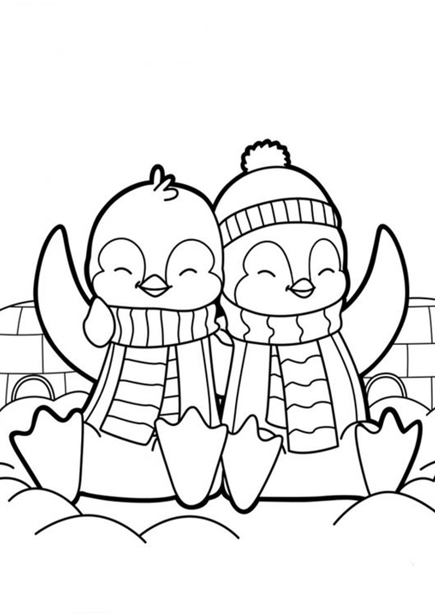 Free Easy To Print Penguin Coloring Pages Penguin Coloring Pages Penguin Coloring Baby Coloring Pages