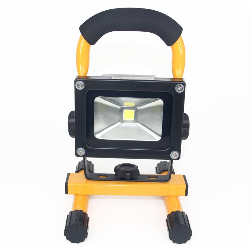 Rechargeable Led Floodlight 10w Cool White Led Spotlight Outdoor Lighting 780lm Led Lamp With 4400mah Or 5200mah Battte Camping Lamp Led Flood Lights Led Flood