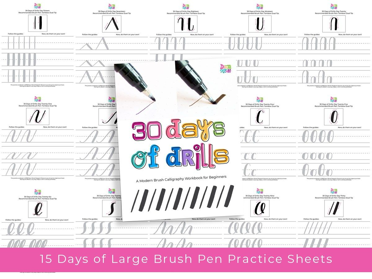 Brush Calligraphy For Beginners 30 Days Of Drills