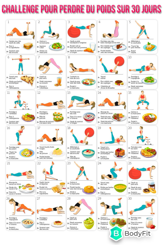Challenge Pour Perdre Du Poids Sur 20 Jours Perdre Du Poids Perdre Du Poids A La Maison Sante Et Fitness