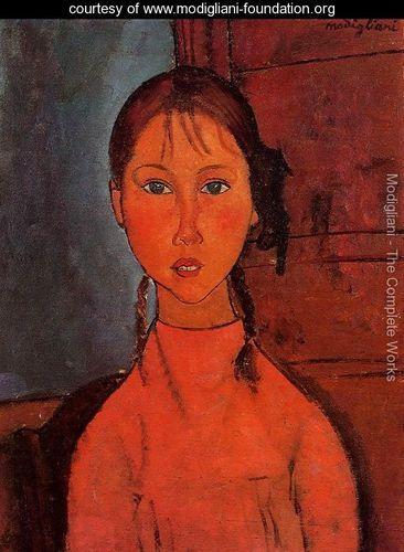 Girl With Braids - Amedeo Modigliani - www.modigliani-foundation.org