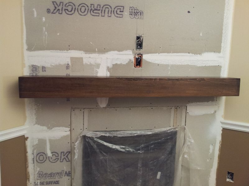 Beam Fireplace Mantels Custom Barn Beam Fireplace Mantel Start To Finish Home Design