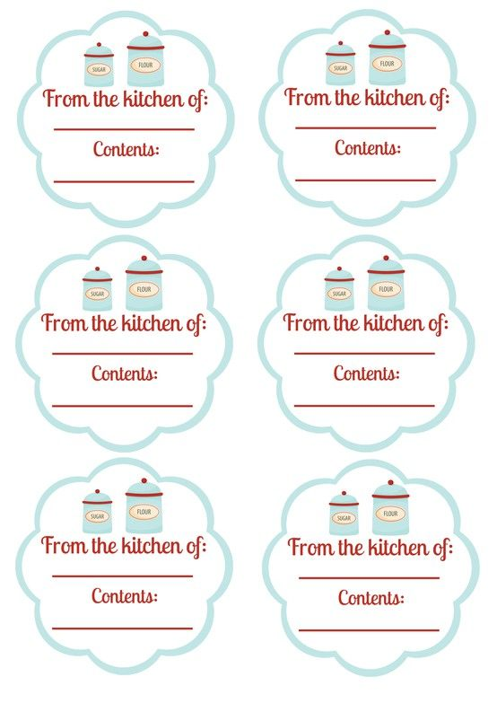 printable labels for jars