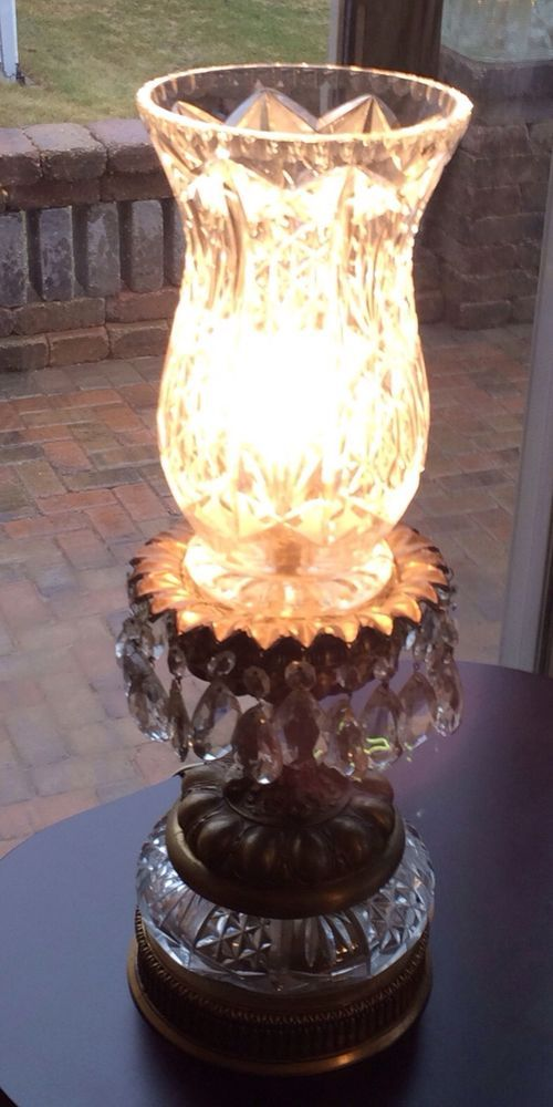 Dale Tiffany Crystal Wall Sconce In Antique Brass With