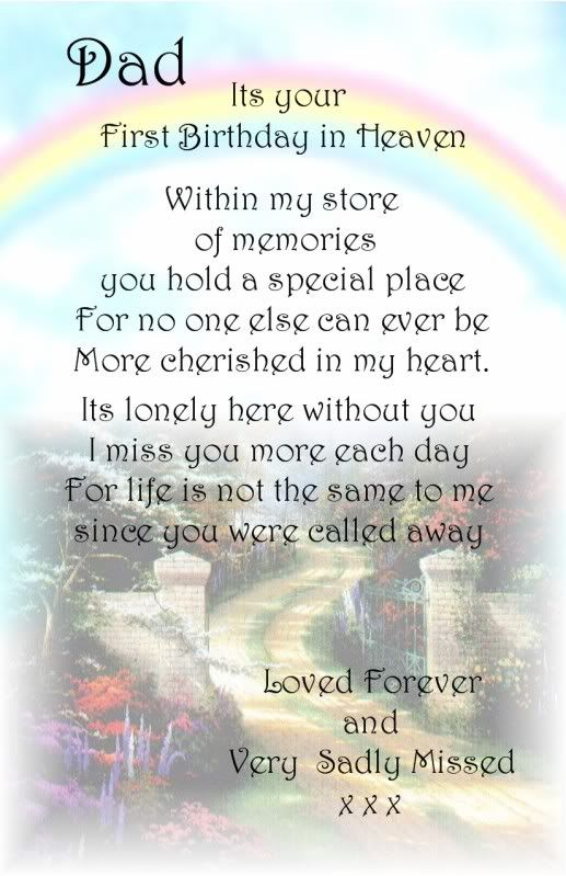 A Dad First Birthday Bereavement Graveside Memorial