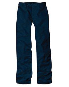 Dickies 7 oz. Girls' Flat Front Straight Leg Pant 63505 Dk navy 12