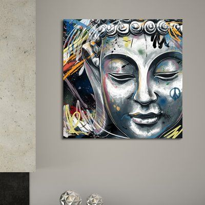 Maxwell Dickson Buddha By Maxwell Dickson Graphic Art Print On Wrapped Canvas Size 36 H X 36 W X 1 5 Buddha Canvas Art Graphic Art Print Buddha Painting