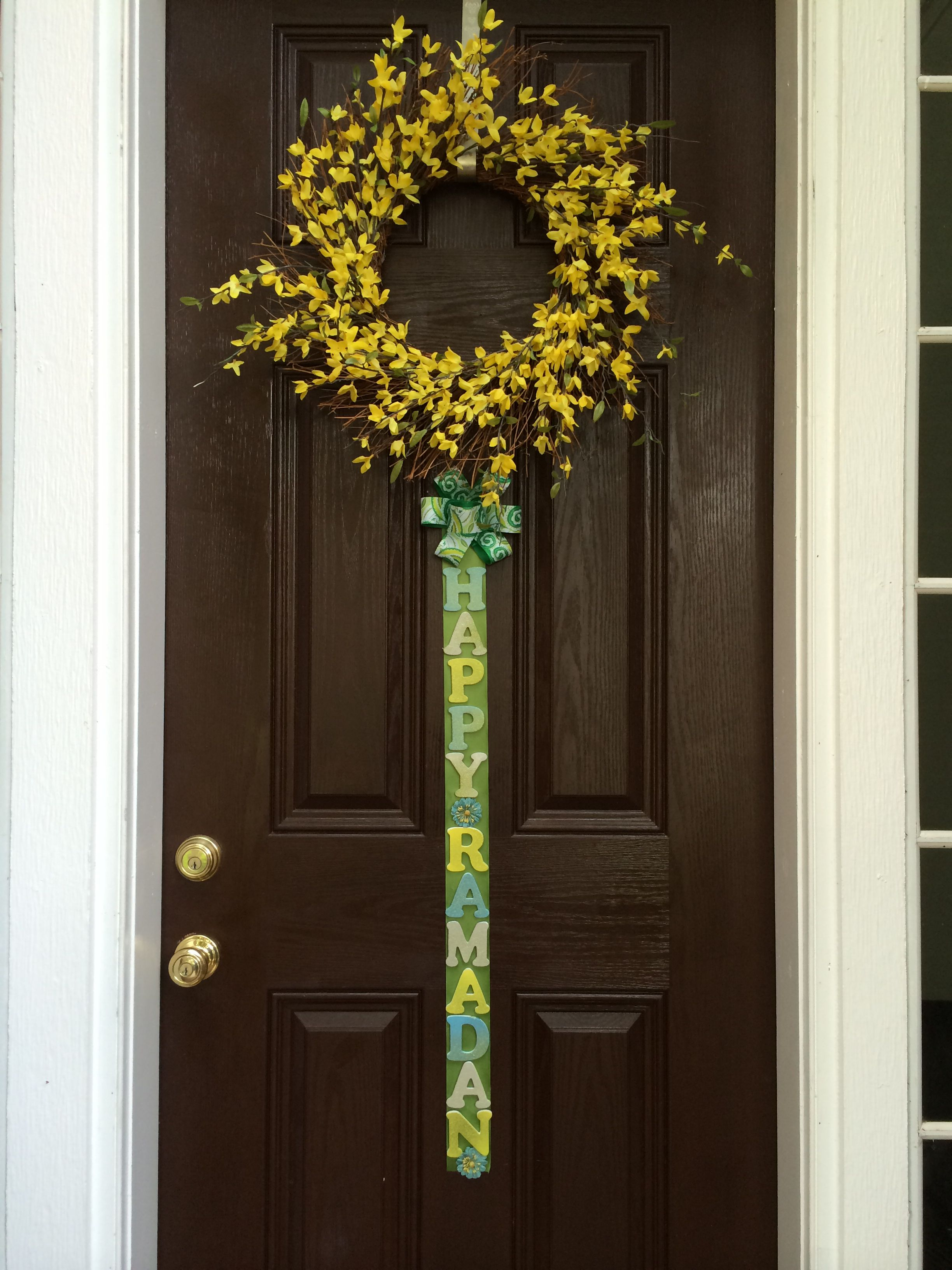 Ramadan Door With Wreath My Very Own House Decor Crafts And Lots