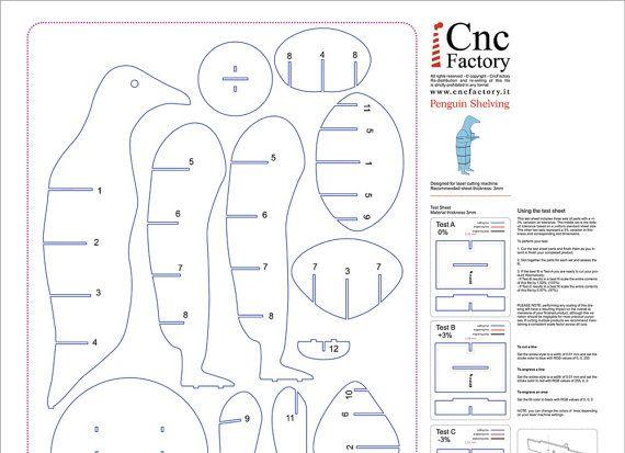 penguin shelving - cnc template cutting file