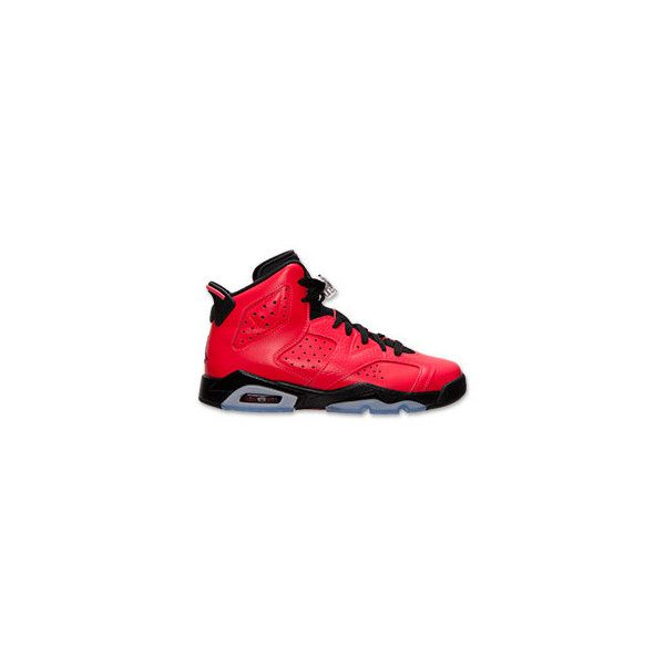 97c402773ed69d Boys  Grade School Air Jordan Retro 6 Basketball Shoes ( 35) ❤ liked on Polyvore  featuring jordans and air jordan 6