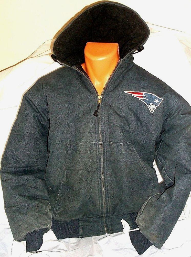 best loved 9a67e 47948 New England Patriots NFL Hard Wear Heavy Winter Jacket Size ...