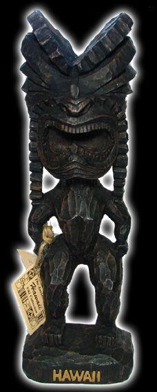 "12"" Tiki Figure - Hawaiian God ""Ku"" - Crazy Box"