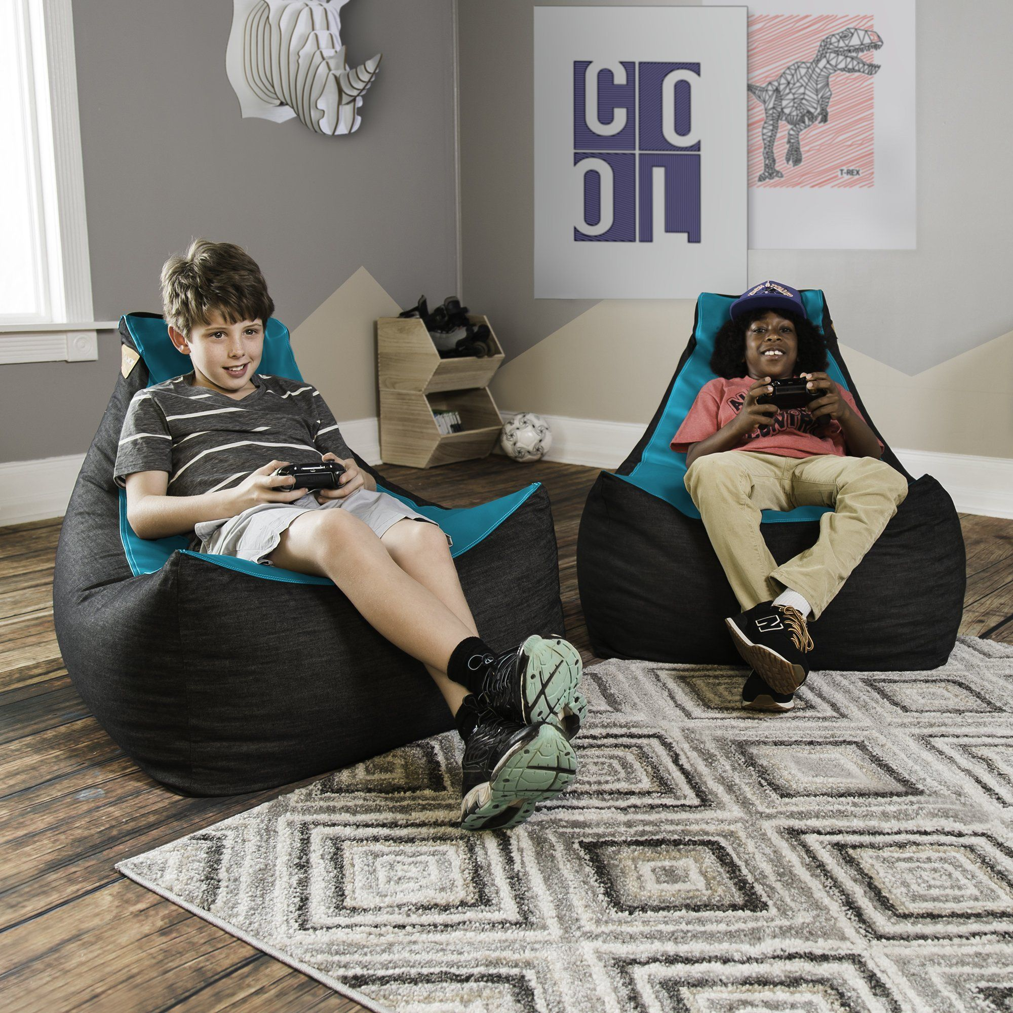 Play In Style With The Jaxx Pixel Bean Bag Gamer Chair This Bean Bag Provides Enough Comfort To Spend A Wh Gamer Chair Bean Bag Chair Balcony Table And Chairs