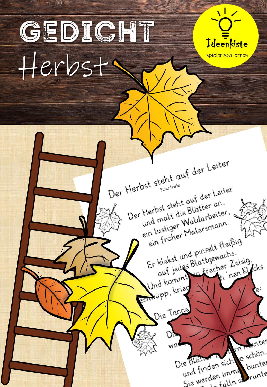 Herbst Gedicht Unterrichtsmaterial In Den Fachern Deutsch Fachubergreifendes In 2020 Gedicht Schule Gedichte Unterrichtsmaterial