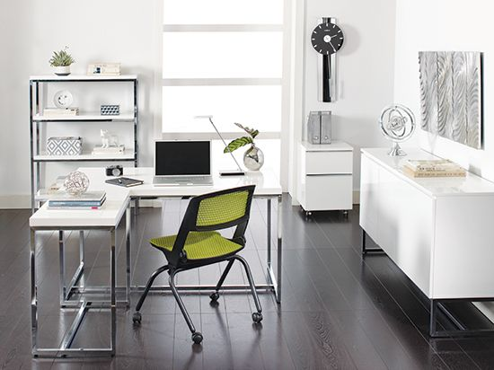 Tate Desk White Can Get A Side To Create L Shaped Sideboard And Bookcase Bright Idea Office Pinterest Desks Workes Furniture