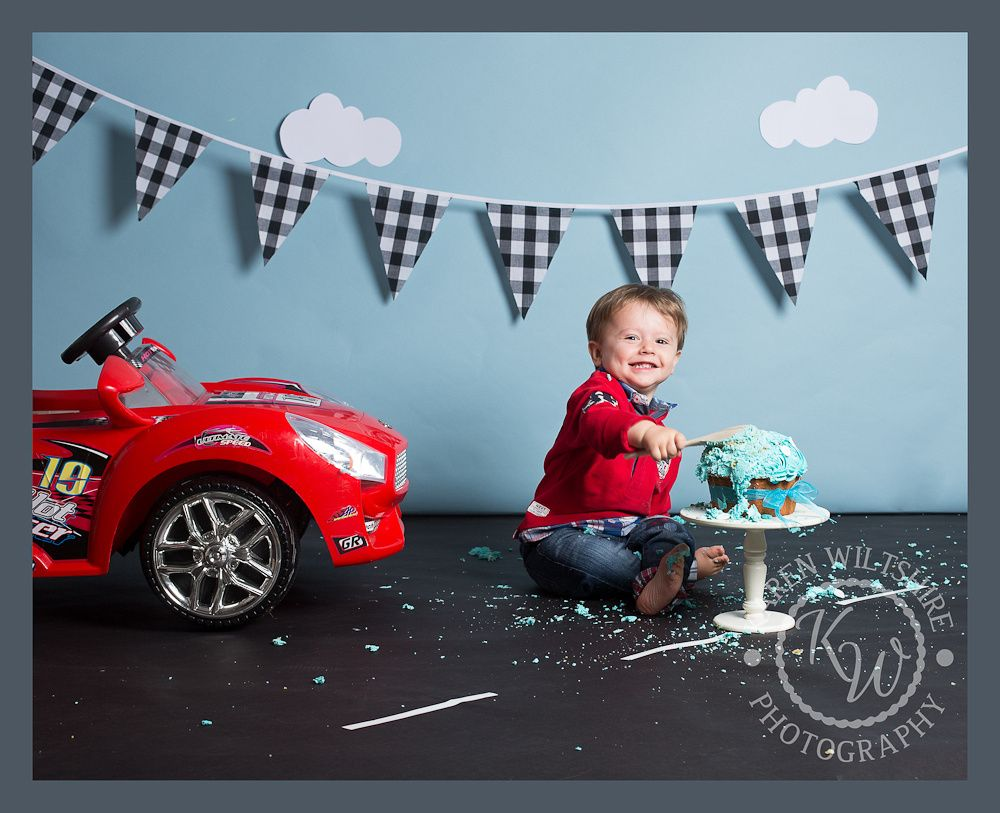 2 year old Cake Smash Boy cars theme Car birthday theme
