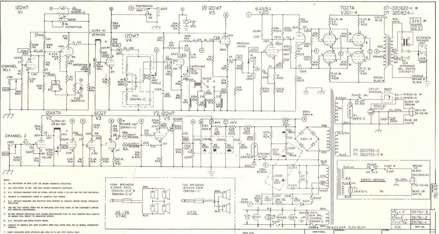 ampeg v4 schematic... yeah study it