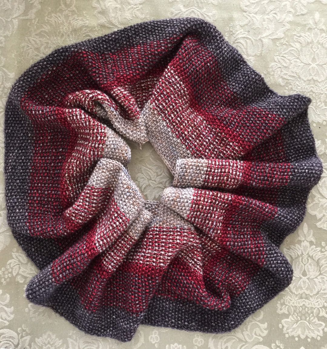 Free Knitting Pattern for Nightfall Infinity Scarf Cowl | Yarn ...