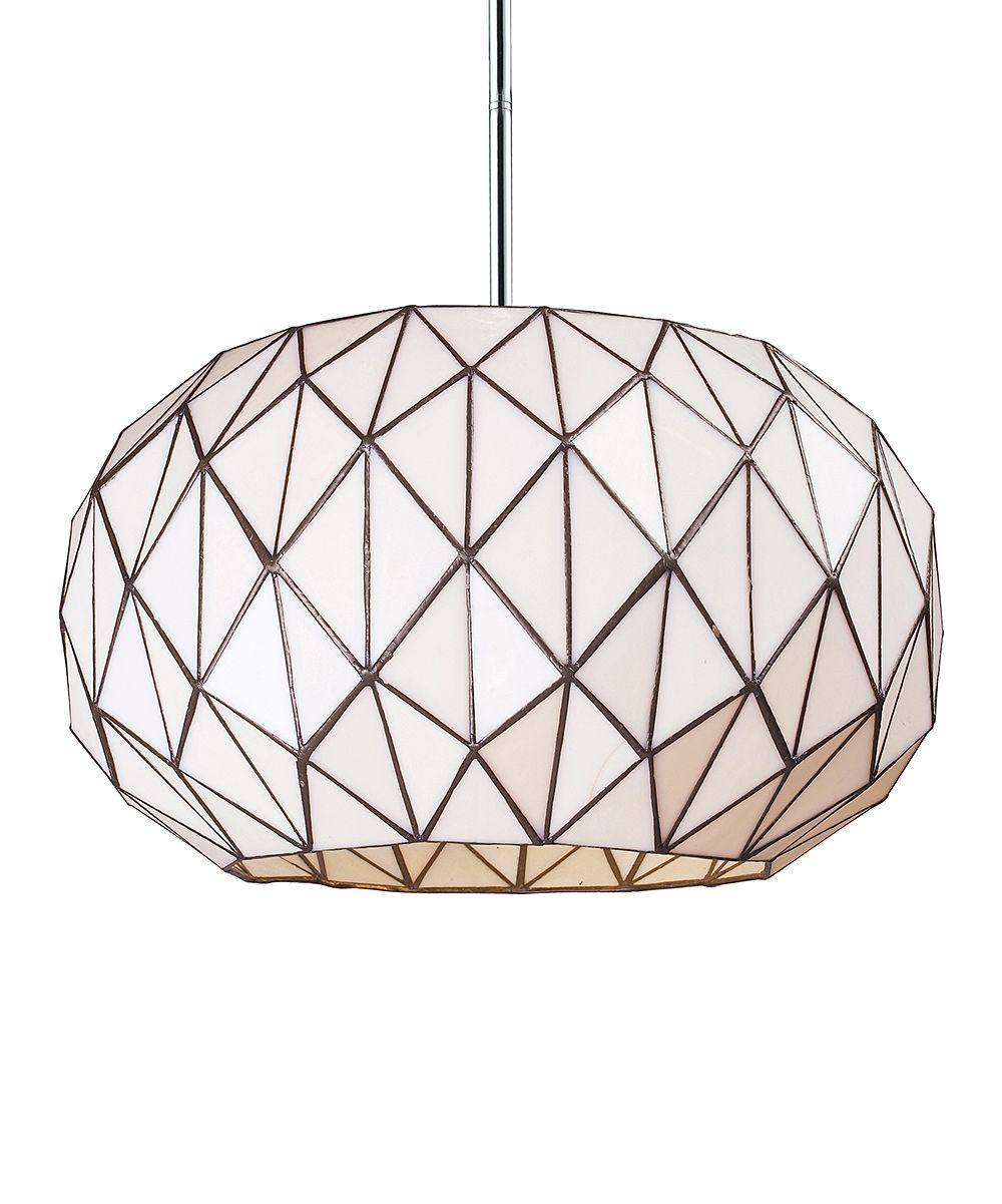 Chrome tetra oval globe pendant lamp daily deals for moms babies