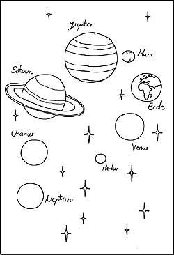 Malvorlagen Planeten Printables Planeten Sonne Mond Und