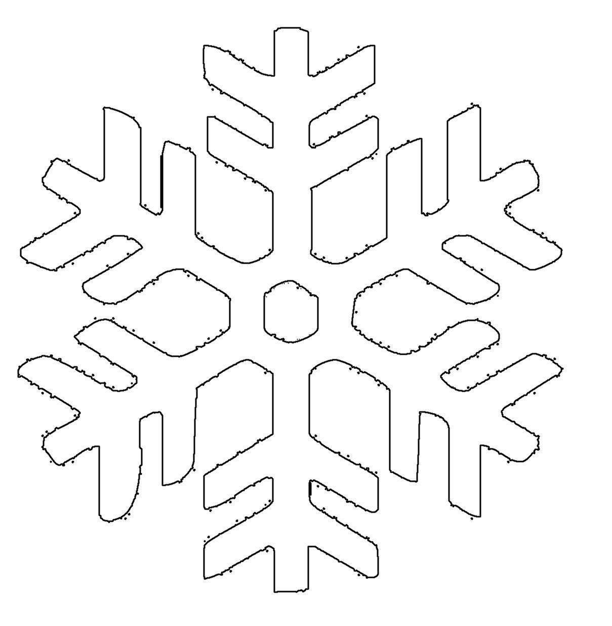 Schneeflocke4 Schneeflocken Basteln Vorlage Schneeflocke Vorlage Schneeflocken