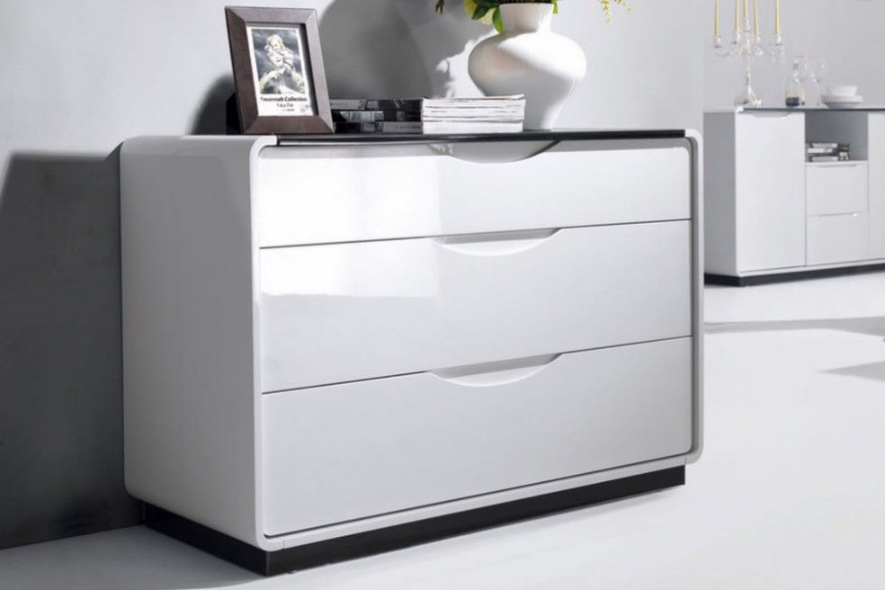 Presta  Drawer High Gloss Chest Of Drawers