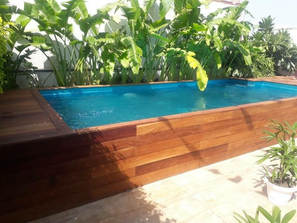 Rooftop Swimming Pool Prefabricated Swimming Pool Above Ground