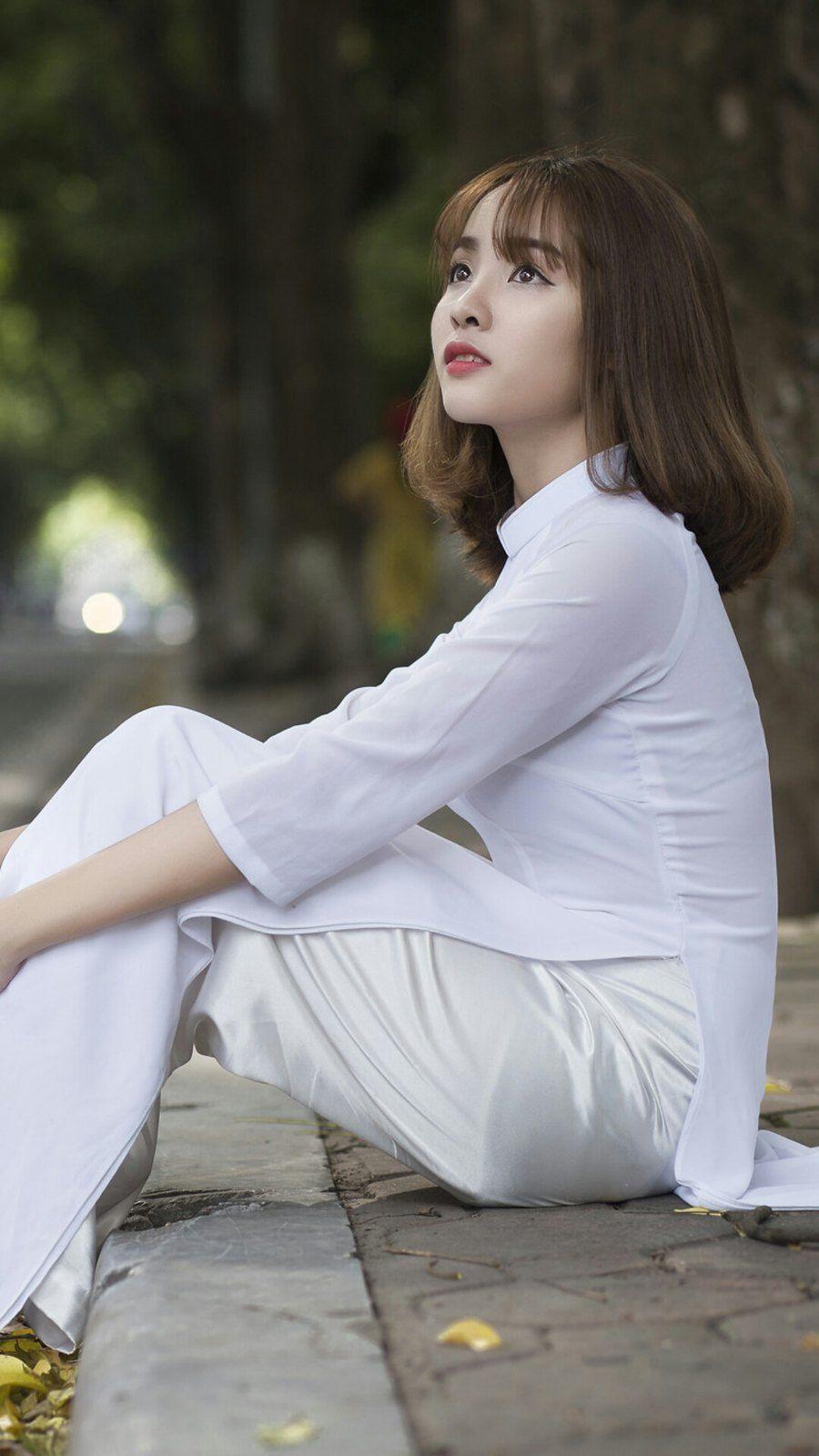 Pin by châu on Vietnamese Beauty   Vietnamese long dress