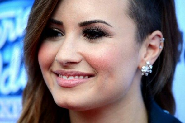 Demi Lovato on American Idol carpet 2014