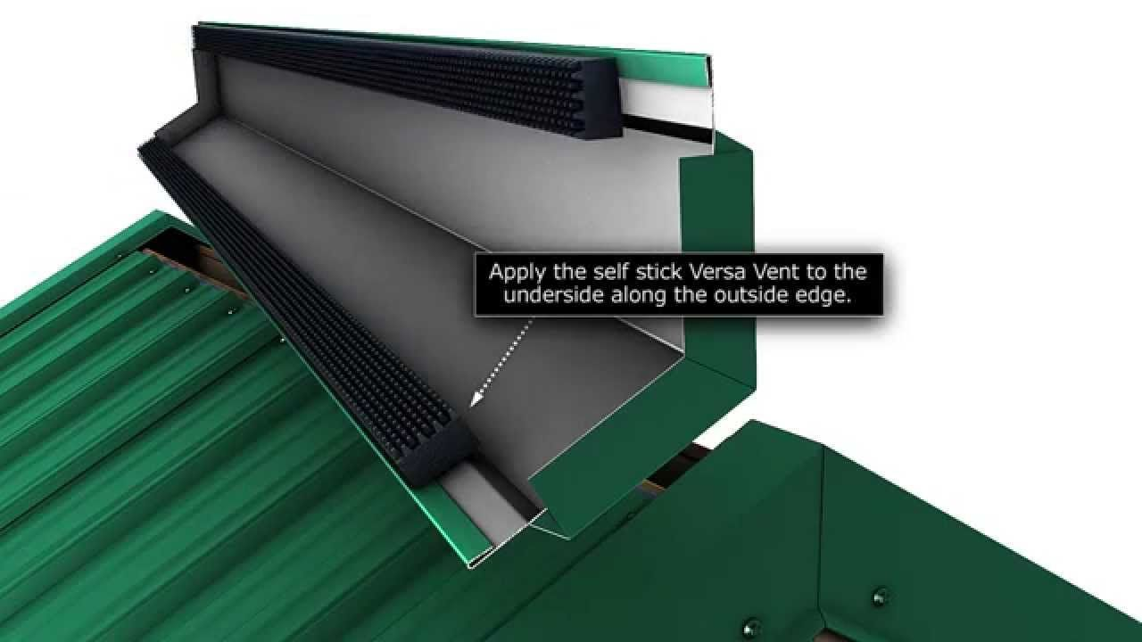 How To Install A Metal Roof Vented Ridge Cap For Union S Masterrib Panel Metal Roof Installation Metal Roof Vents Roofing