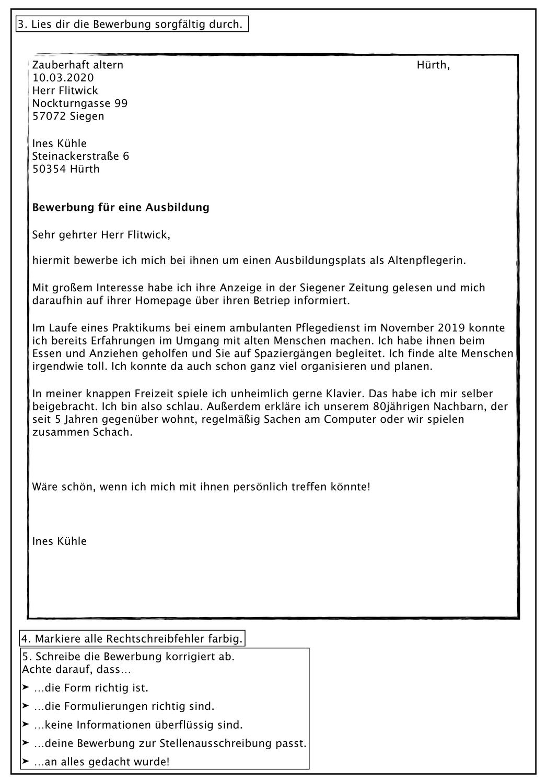 Klassenarbeit Mit Bewertungsbogen Bewerbungen Uberarbeiten Unterrichtsmaterial Im Fach Deutsch Klassenarbeiten Bewerbung Erste Klasse