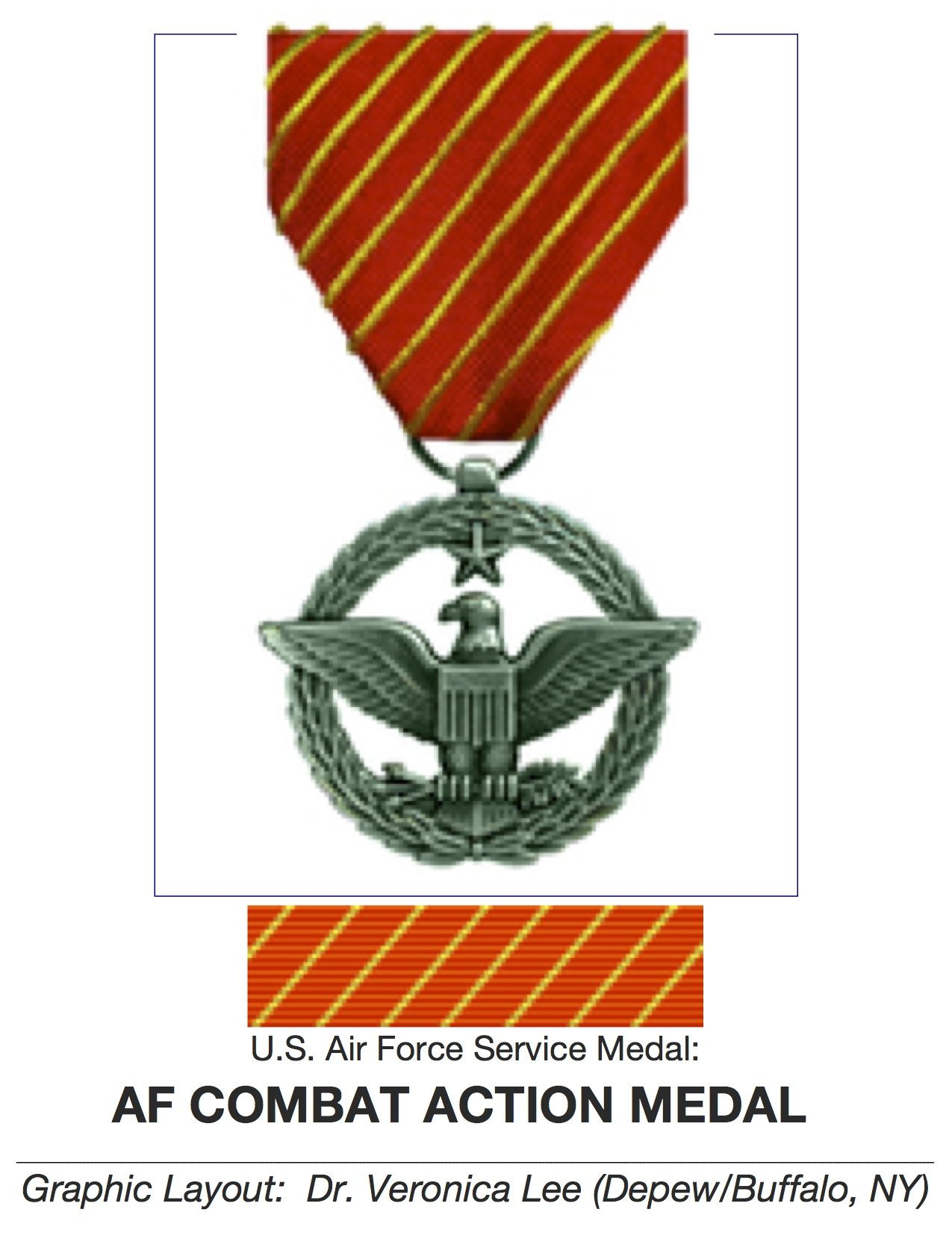"Air Force SERVICE MEDAL ♥ ""AFCAM"" ♥ ESTABLISHED in 03/15"