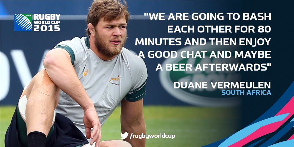 Rugby World Cup On In 2020 Rugby Memes Rugby Duane Vermeulen