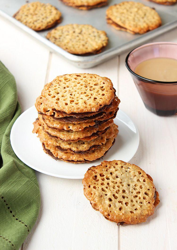 Dark Chocolate Hazelnut Florentine Cookies