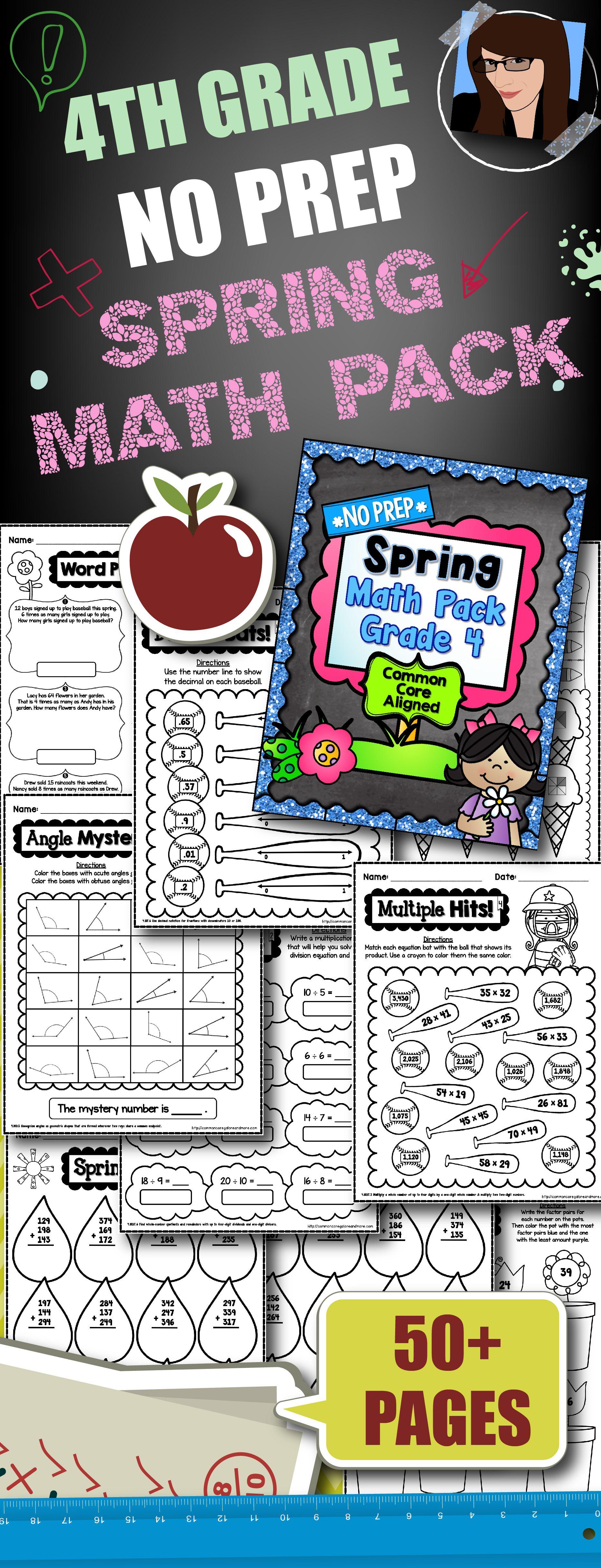 Spring No Prep Math