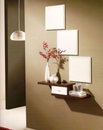 Muebles recibidores para entradas peque as recibidor for Muebles de sala para casas pequenas