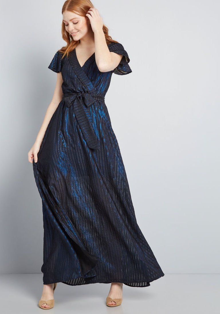 c24cc98769e Your Time to Shine Maxi Dress in XXS - Short Sleeves Long by ModCloth