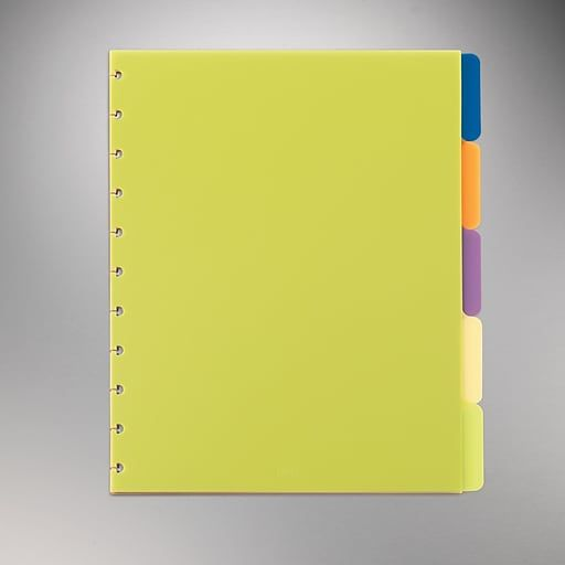 """Arc System Tab Dividers, 9"""" X 11"""", Assorted Colors, 5/Pack"""
