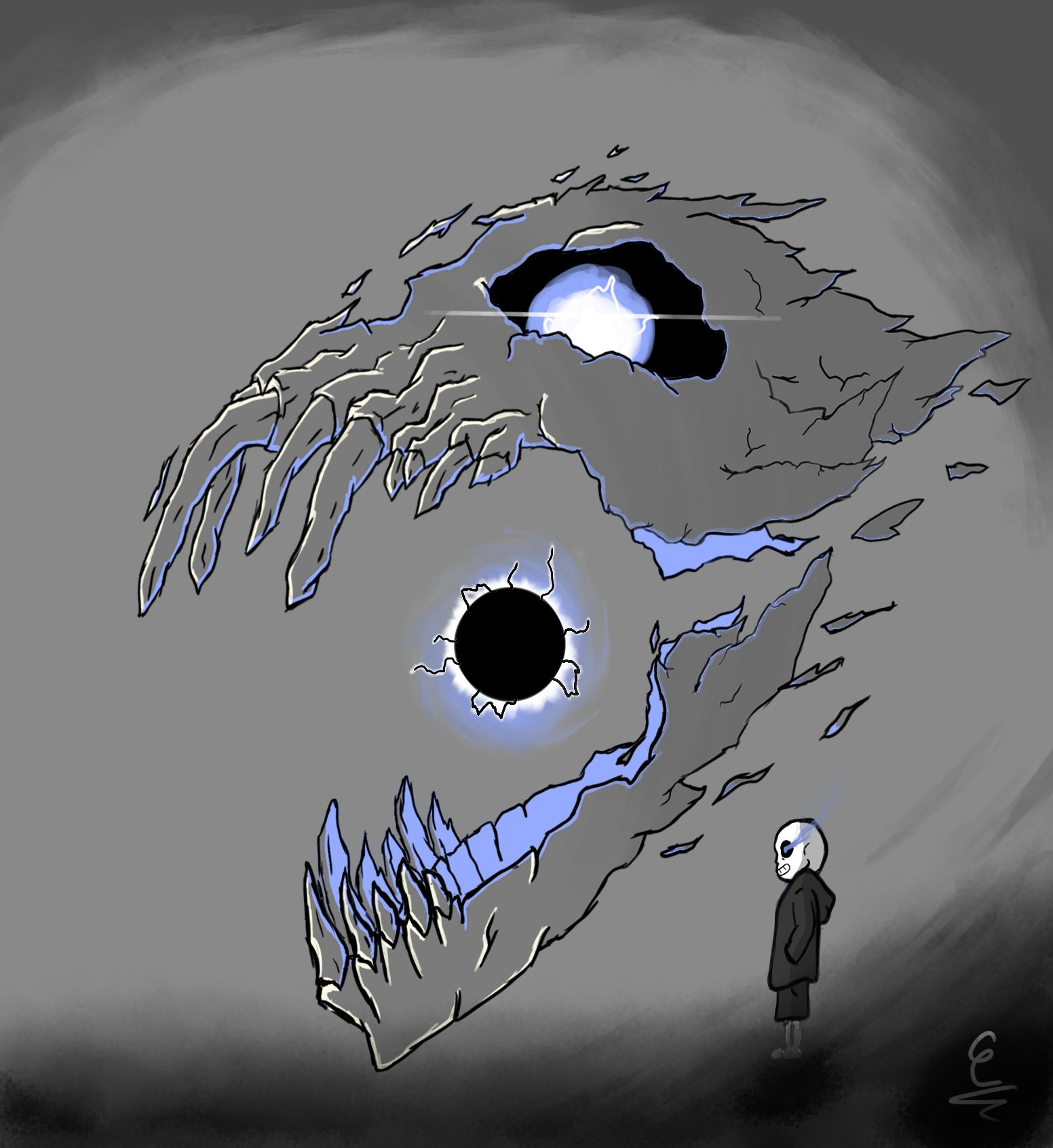 this is my take of sans and his gaster blaster toby fox gaster